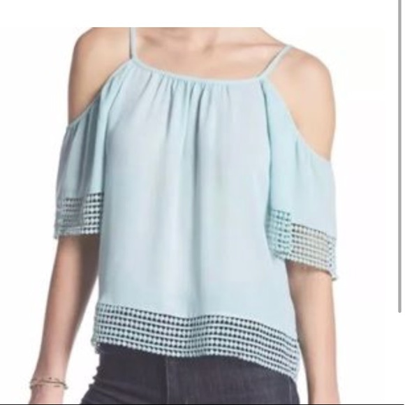 0373c9f3992cad PARKER Dotty Lace Cold Shoulder Blouse Small NEW